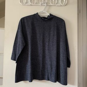 LOFT 3/4 sleeve mock neck top